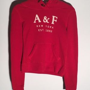 Abercrombie and Fitch Red Hoodie xs